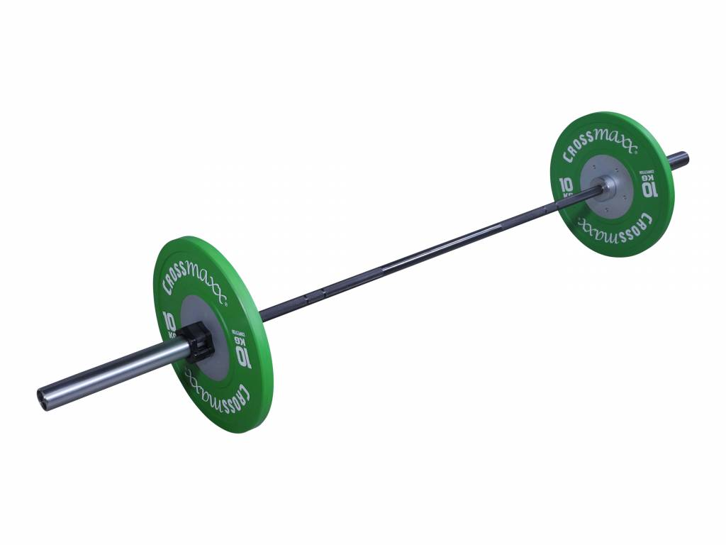 Crossmaxx® LMX34 Crossmaxx® Olympic comp bar 50mm, 220cm 20kg (black/chrome) (available May)