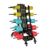 Lifemaxx® LMX1143 Pump rack. For max. 30 sets (black)