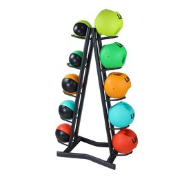 Lifemaxx® LMX1253 Medicineball rack. For 10 medicineballs (black)