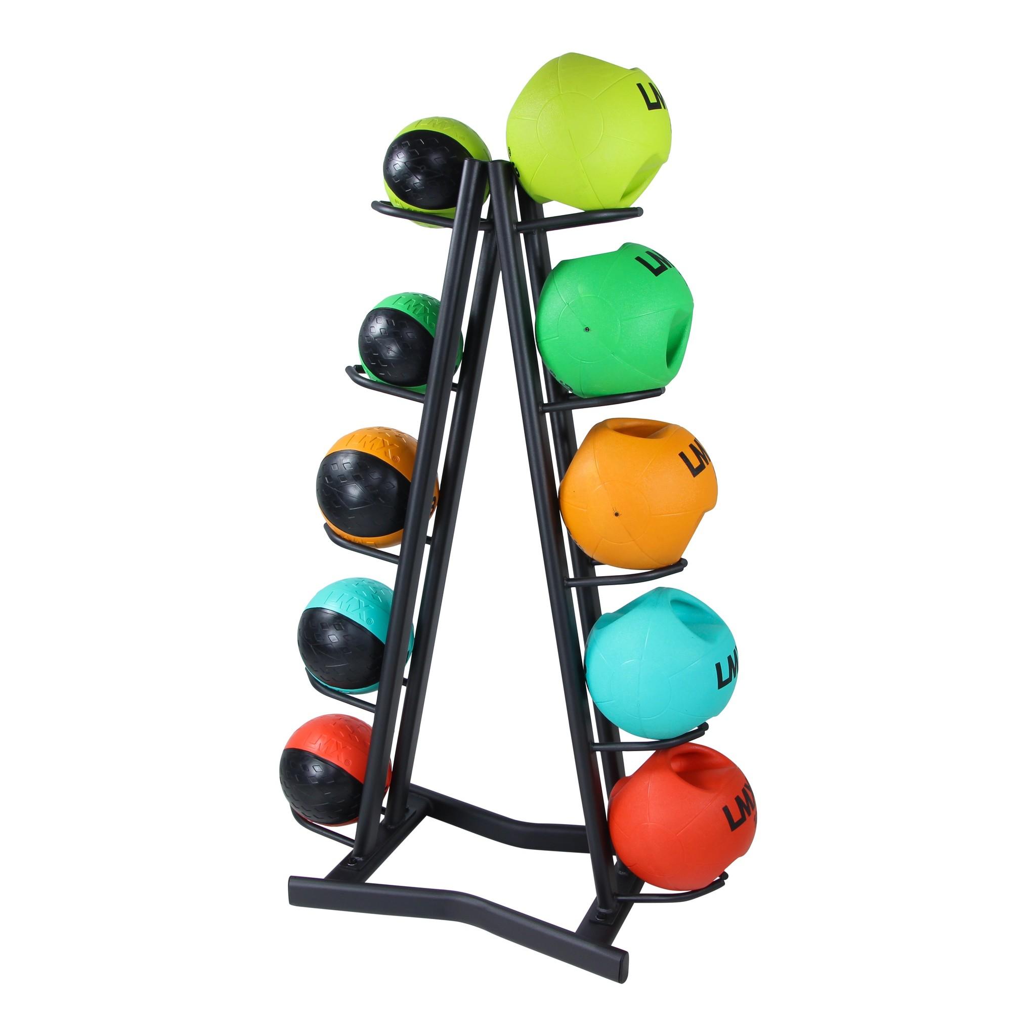 Lifemaxx® LMX1253 Medicineball rack. For 10 medicineballs (black)