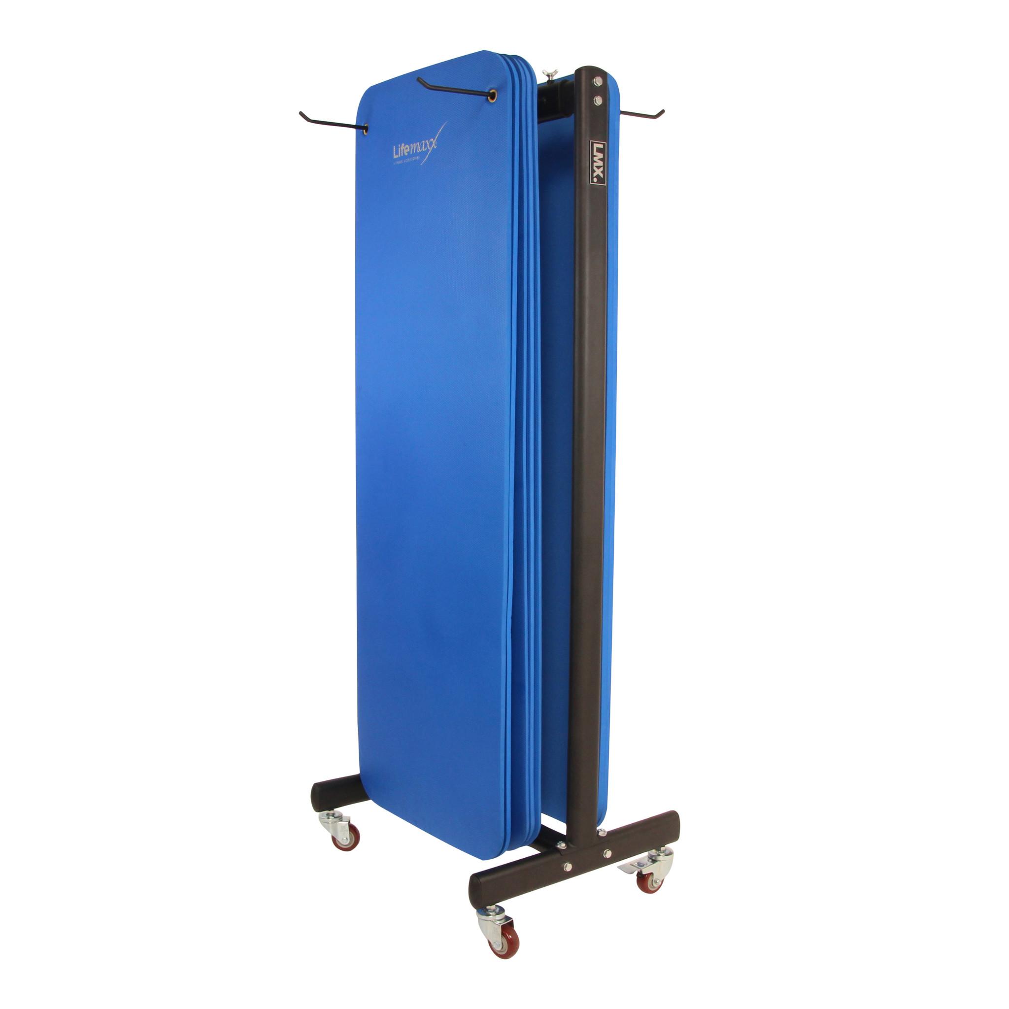 Lifemaxx® LMX1227 Aerobic mat rack. For 30 mats (180cm)