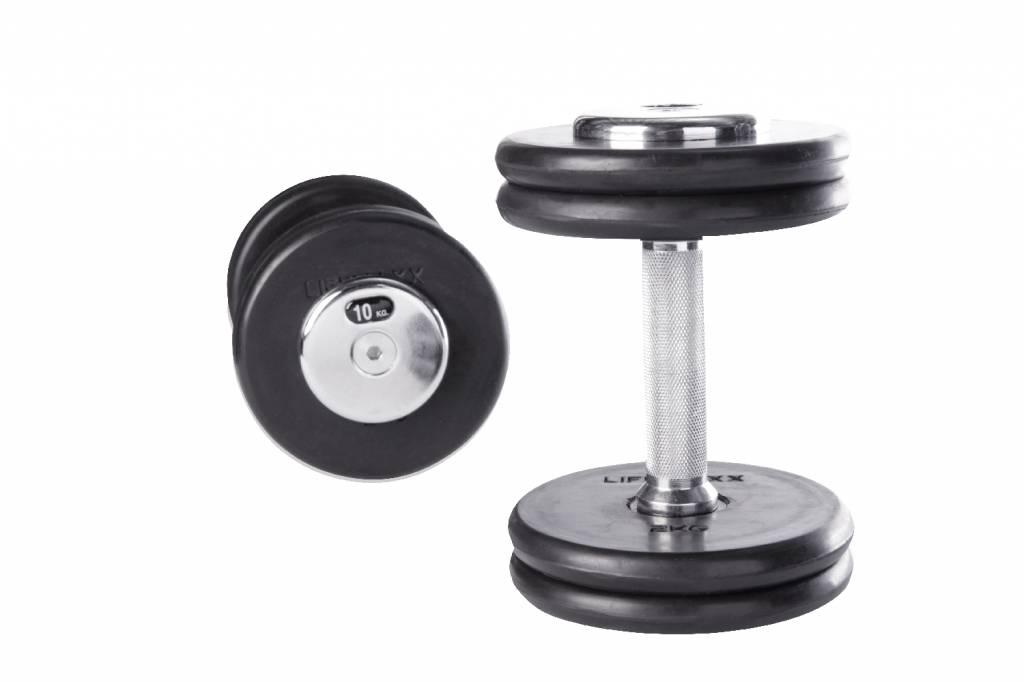 Lifemaxx® LMX75 dumbbellset 2pcs/set (2 - 60kg) (alle gewichten - leverbaar december)