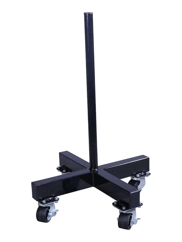 Crossmaxx® LMX1032 Crossmaxx® bumper plate stacker on wheels