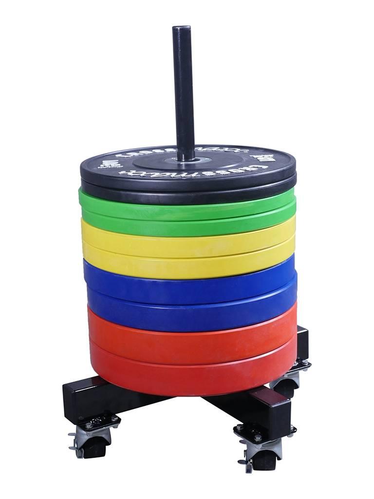 Crossmaxx® LMX1032 Crossmaxx® bumper plate stacker on wheels (leverbaar mei)