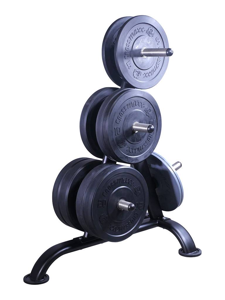 Lifemaxx® LMX1030W Weightplate rack for 50mm discs (black)
