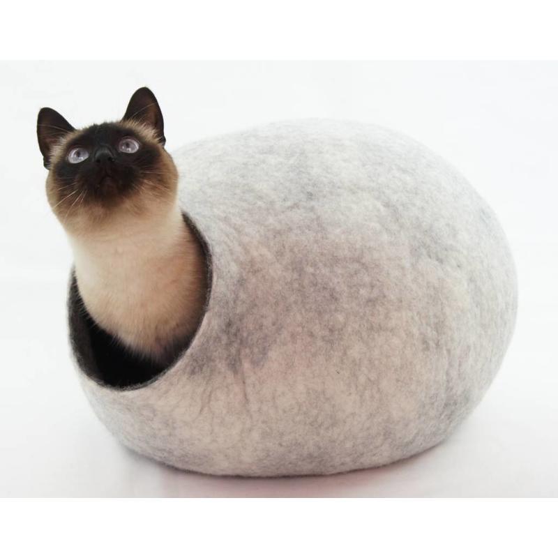 Kattenhuis van zuiver scheerwol