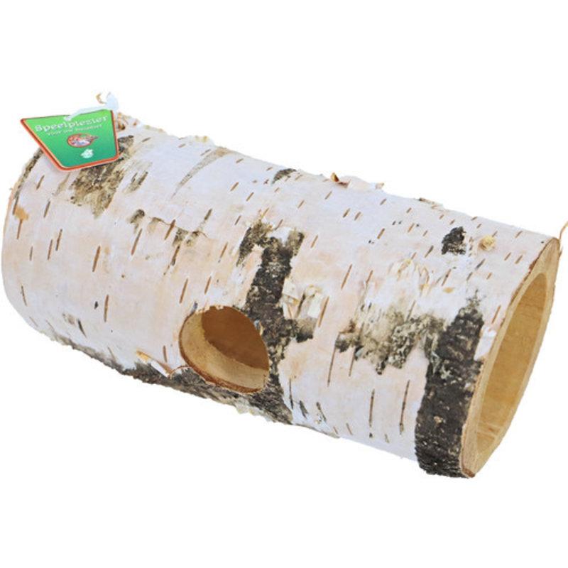 Tunnel voor hamsters, berkenhout.