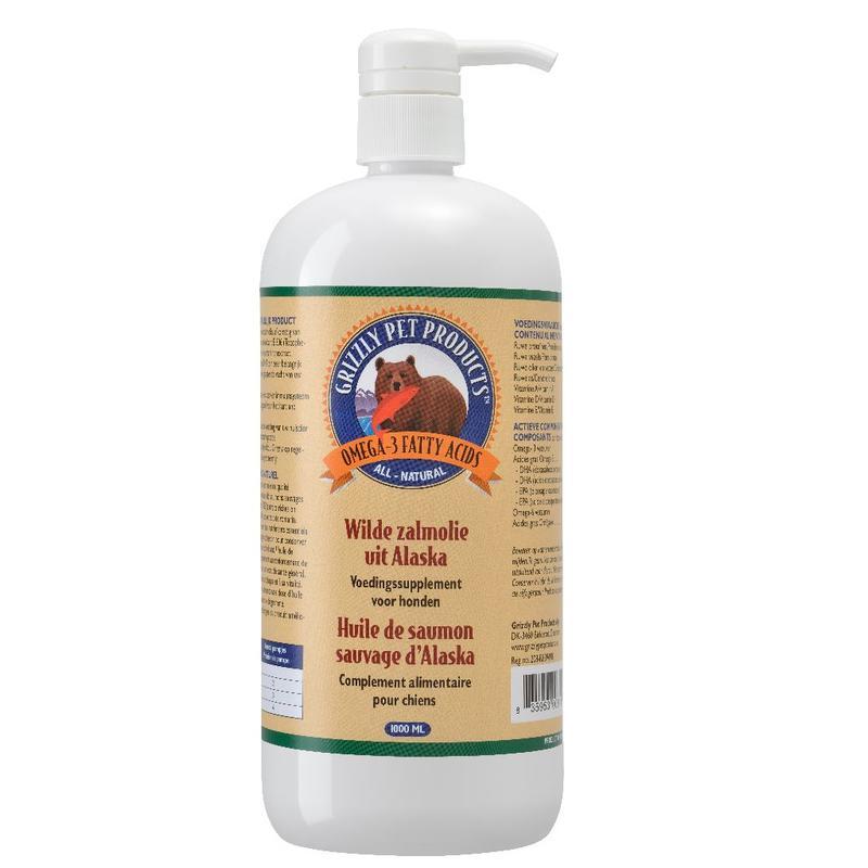 Grizzly Wilde Zalmolie voor een gezonde huid en glanzende vacht