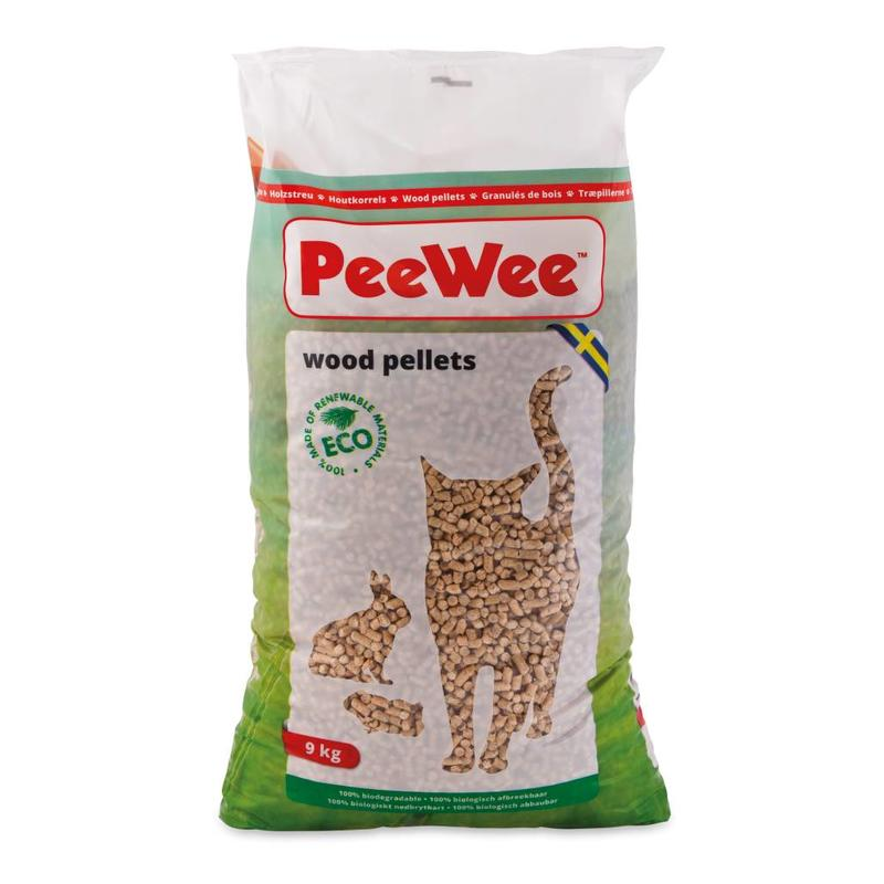 PeeWee kattenbakkorrels 9kg.
