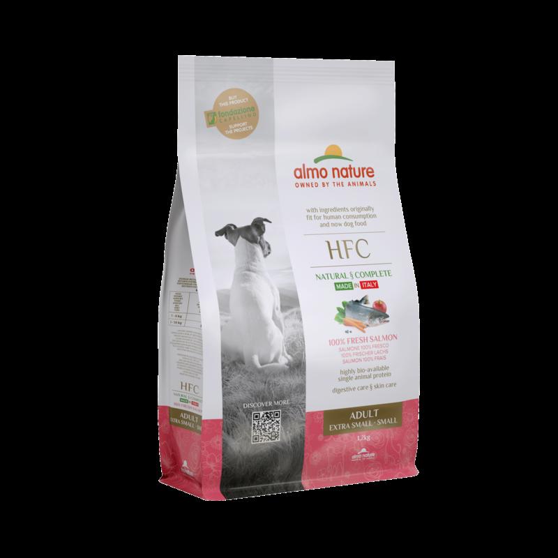 Almo HFC Dog XS/S met 100% verse zalm 1,2kg