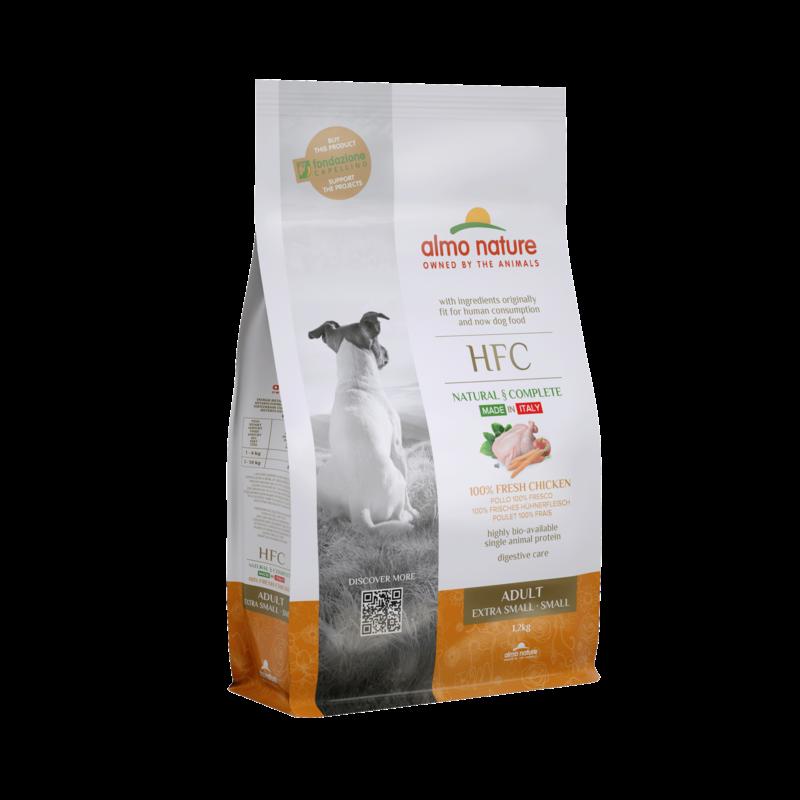Almo HFC Dog XS/S met 100% verse kip 1,2kg