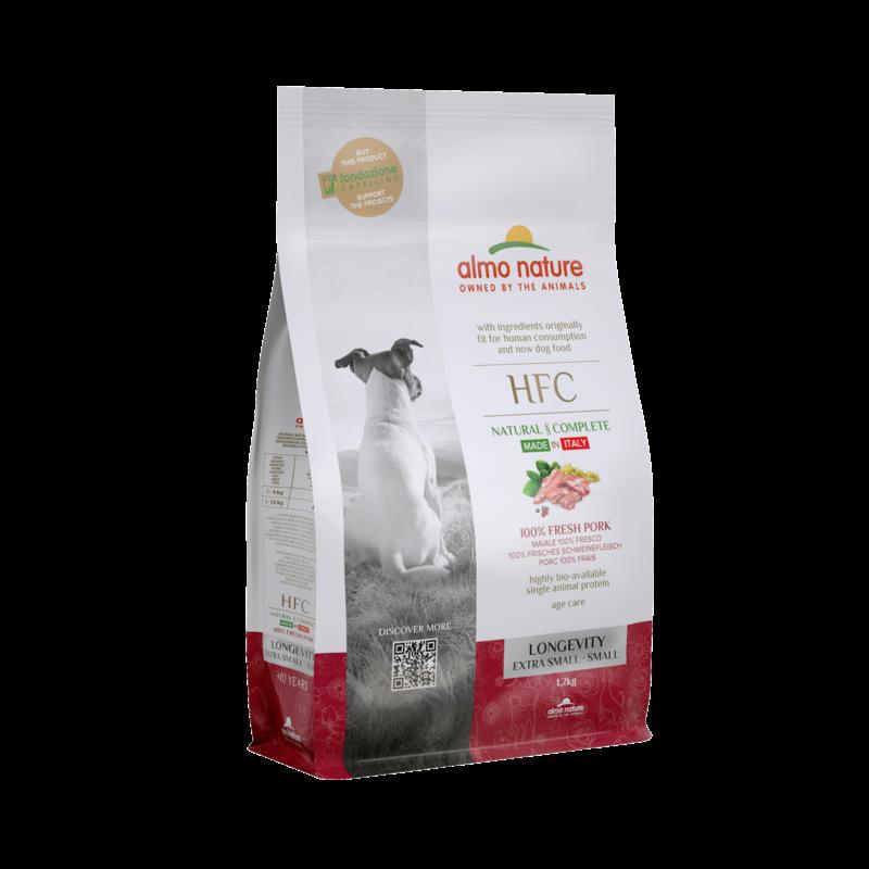 Almo HFC Dog XS/S longevity met 100% vers varkensvlees 1,2kg