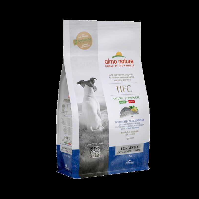 Almo HFC Dog XS/S longevity met 100% verse vis
