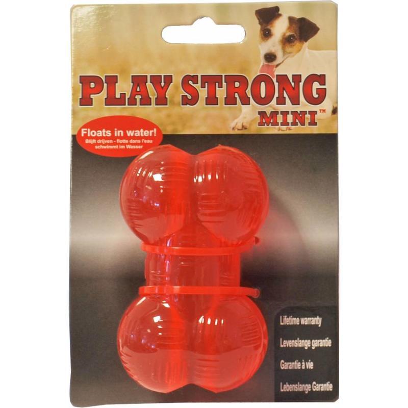 Zwaargewicht rubber bot van Play Strong voor harde kauwers