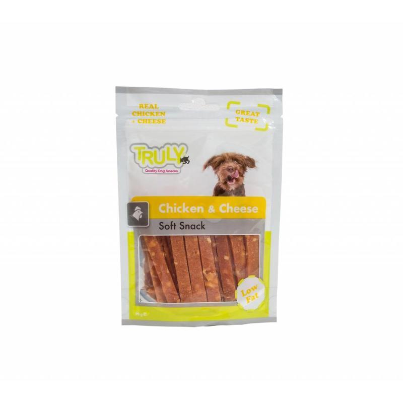 Lekker tussendoortje voor honden van kip met kaas