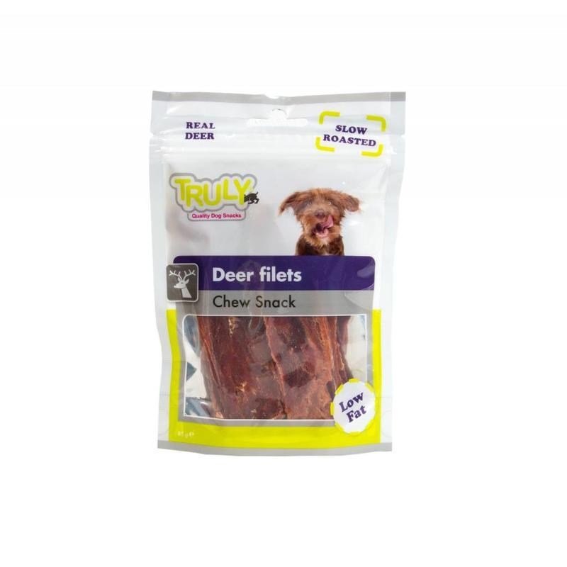 Langzaam geroosterd rendiervlees voor honden