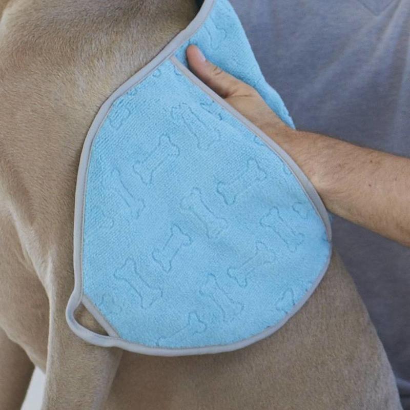 Handige handdoek voor honden.