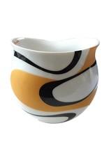 Colani Porzellanserie Colani Kaffeebecher schwarz-gold I Design 1 I Porzellan