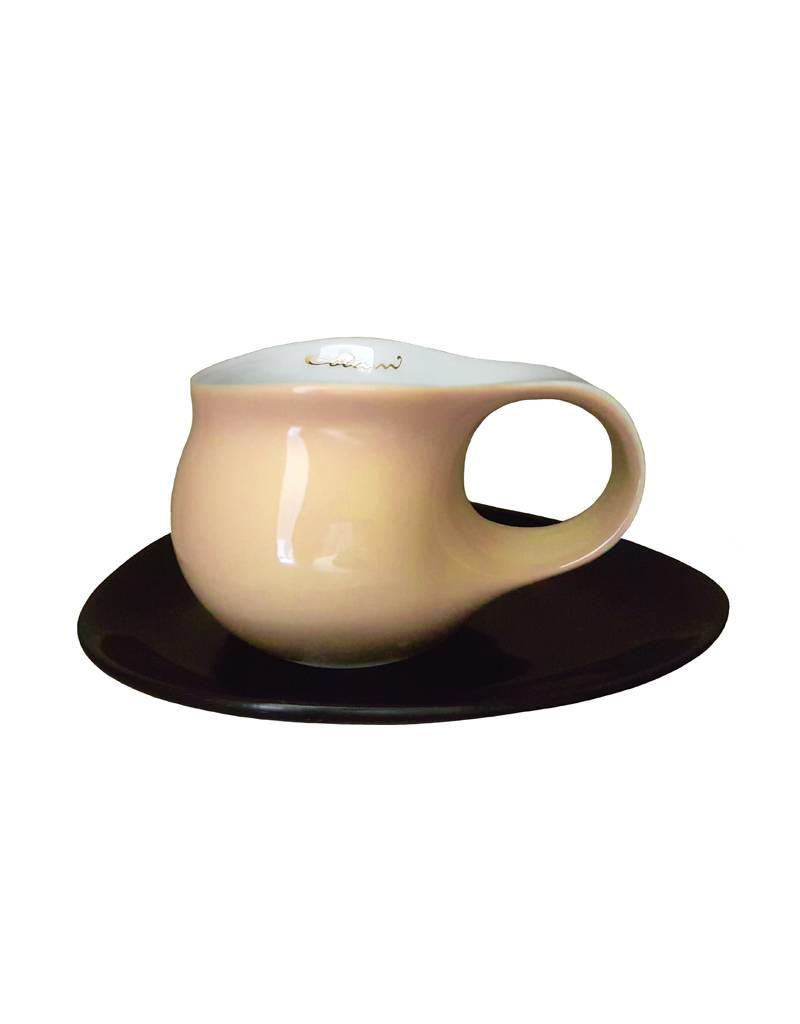 Colani Porzellanserie Colani Espressotasse groß 2- teilig I sand I Porzellan