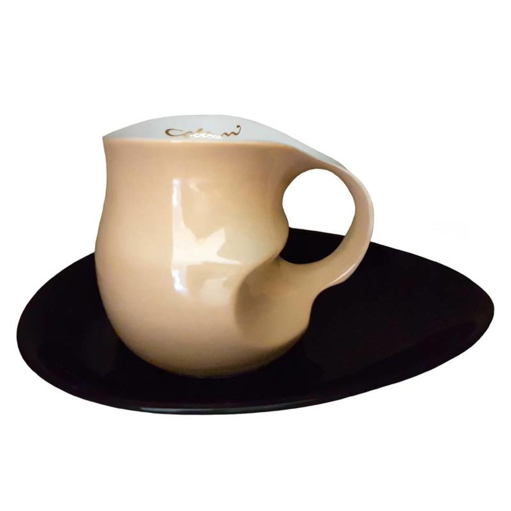 Colani Porzellanserie Colani Kaffee-/Cappuccinotasse | Tasse inkl. Unterteller | sand