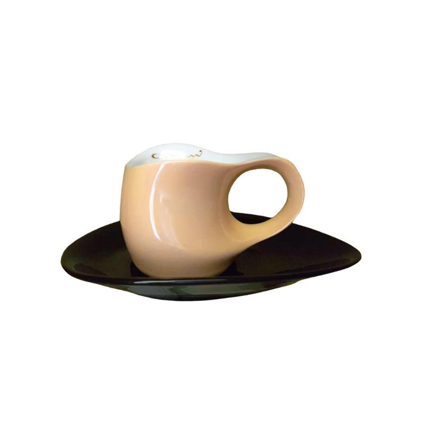 Colani Porzellanserie Colani Espressotasse | Tasse inkl. Unterteller | sand