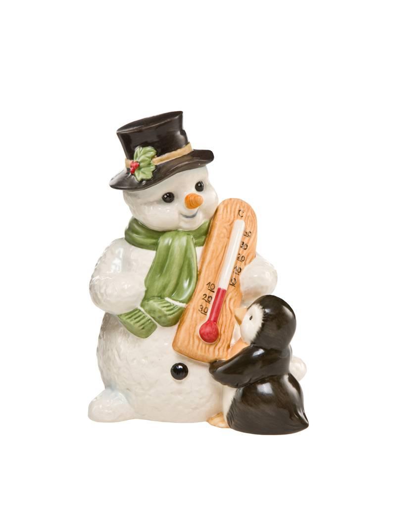 "Goebel Porzellanmanufaktur Schneemann ""Frostiger Winter"" I Pinguin I Goebel Porzellan"