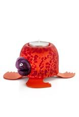 Borowski Glasstudio Turtle Schildkröte I Teelicht I rot-orange I Borowski