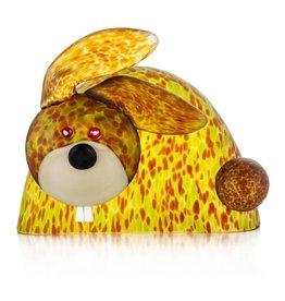 Borowski Glasstudio Bunny Figur, olive