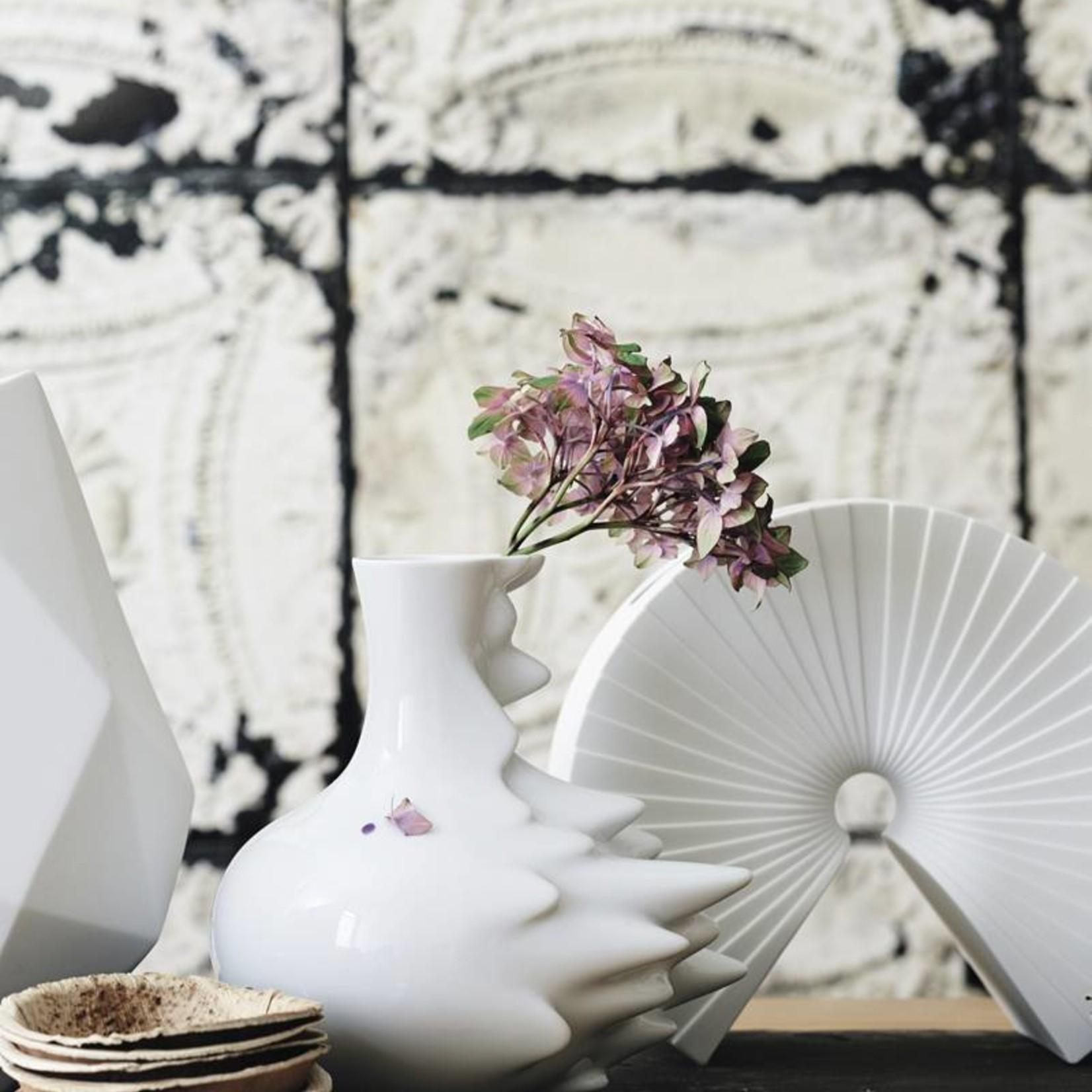 Rosenthal Porzellan Vase Fast, 13 cm I Rosenthal Porzellan I weiß glasiert - Copy