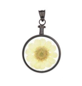 blumenkind® Anhänger grau, Blume gelb