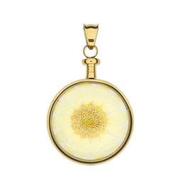 blumenkind® Anhänger gold, Blume gelb