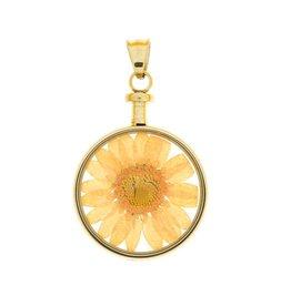 blumenkind® Anhänger gold, Blume orange