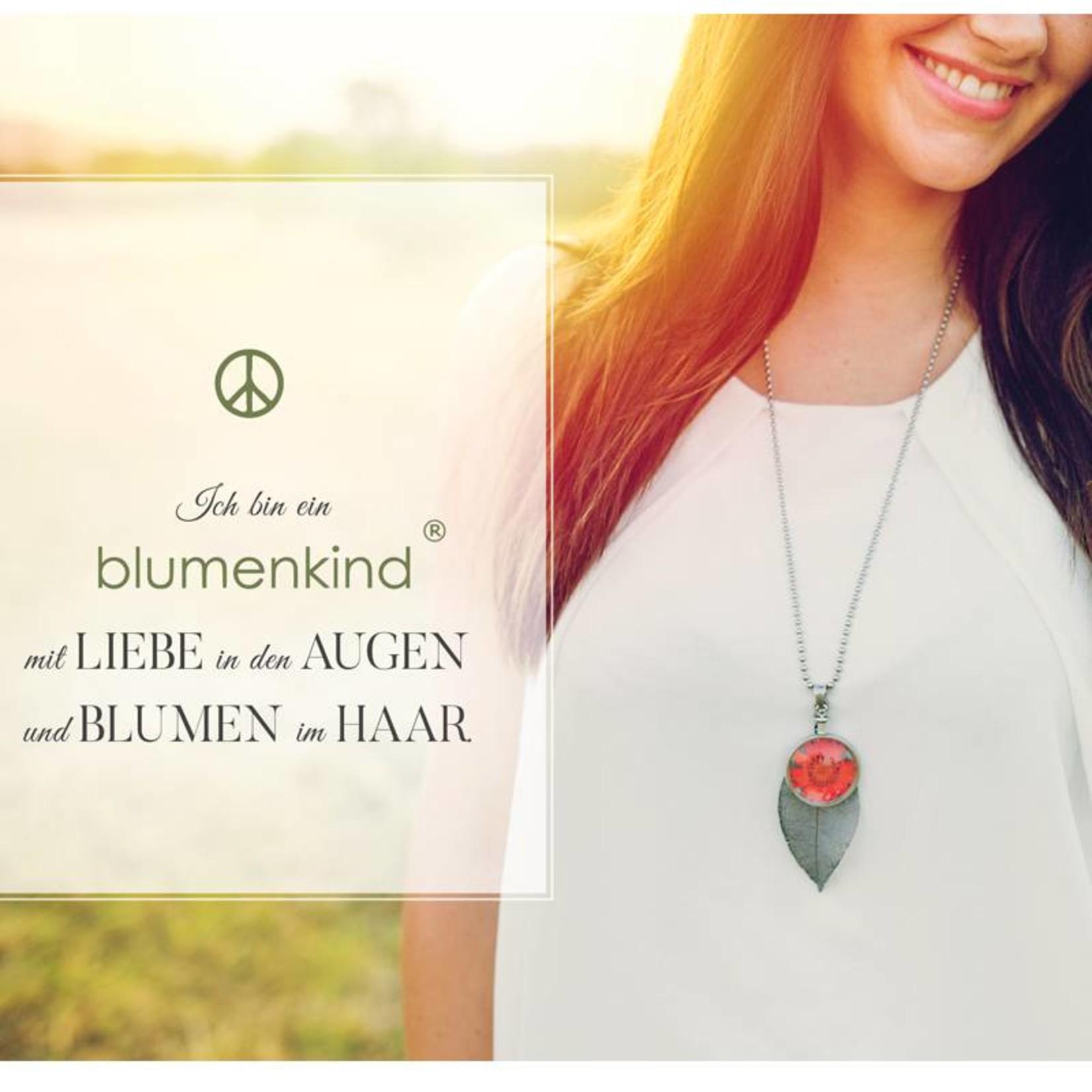 blumenkind® Kettenanhänger gold, Blume rot   blumenkind® Schmuck   echte Blüte