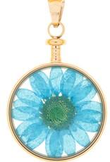 blumenkind® Anhänger roségold, Blume blau I blumenkind® I echte Blüte