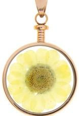 blumenkind® Anhänger roségold, Blume gelb I blumenkind® I echte Blüte