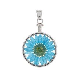 blumenkind® Anhänger stahl, Blume blau