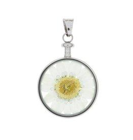 blumenkind® Anhänger stahl, Blume weiß