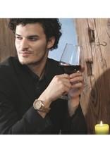 Laimer Holzuhren Holzuhr Wine Edition 40 mm I 24 Stunden Uhr I 1 Zeiger