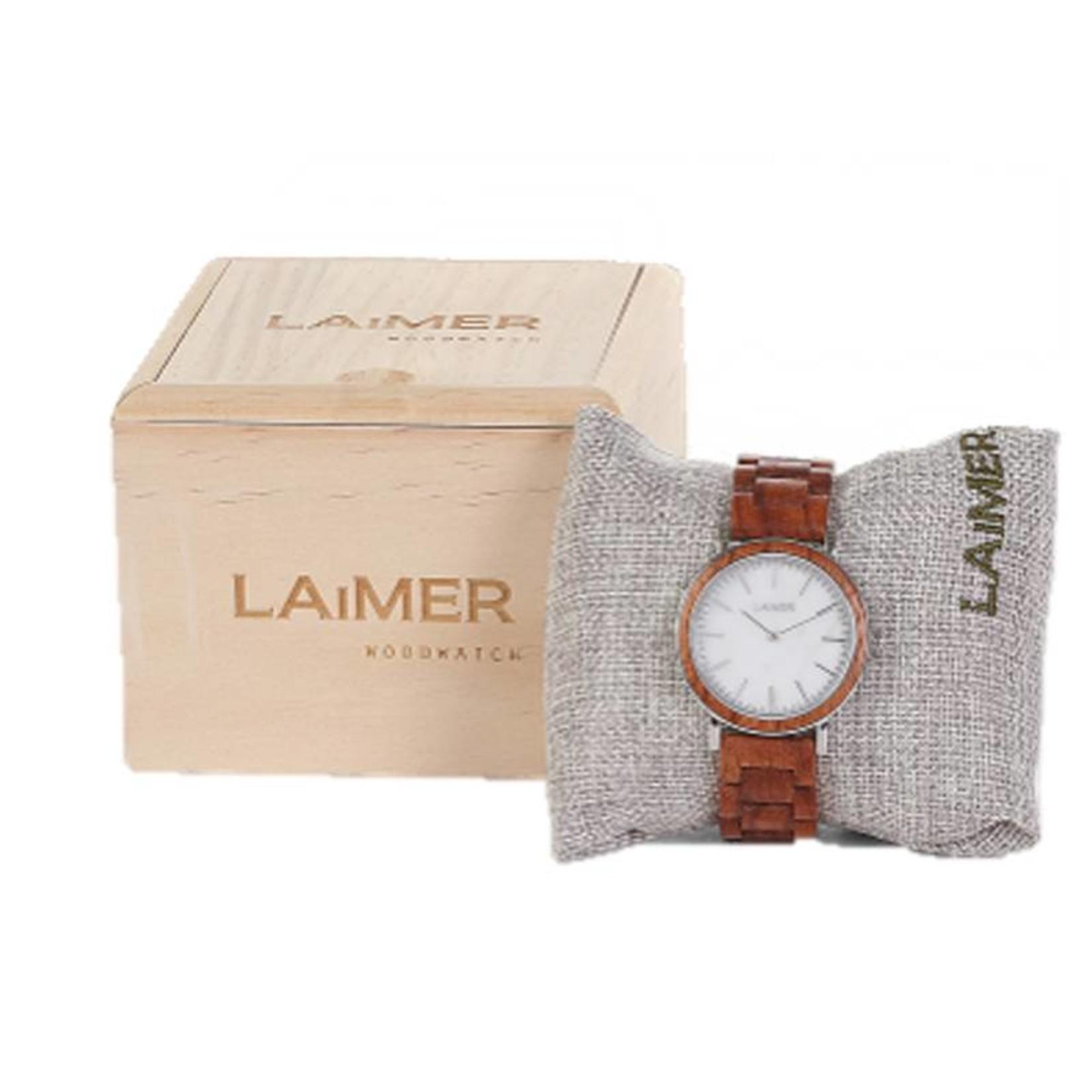 Laimer Holzuhren Laimer Holzuhr Elsa 36 mm I Laimer Uhr aus Rosenholz