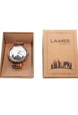 Laimer Holzuhren Laimer City Watch DRESDEN I Laimer Uhr aus Zebranoholz
