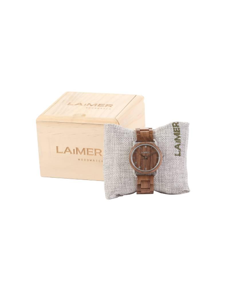 Laimer Holzuhren Laimer Holzuhr Gabi 36 mm I Laimer Uhr aus Walnussholz