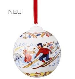 """Hutschenreuther Weihnachtskugel 2018 """"Winterfreuden"""""""