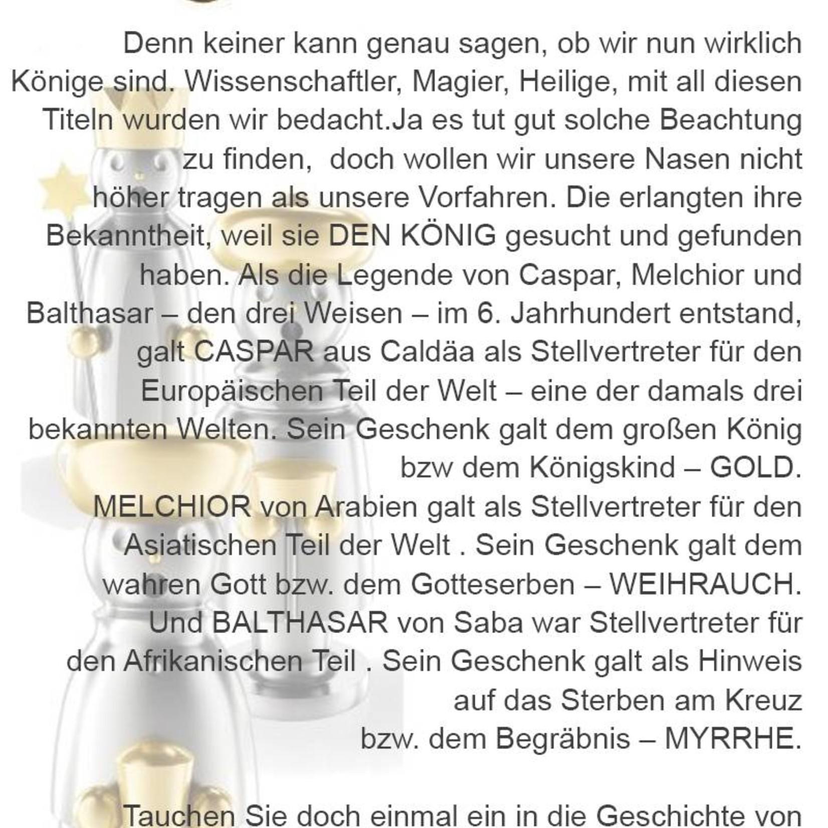 Adamas Brass Räuchermann Balthasar I Edelstahl I Erzgebirge I 3 Weisen