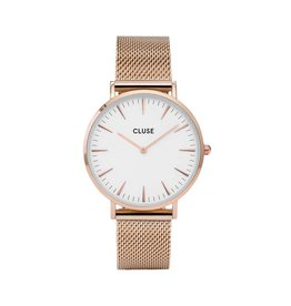 Cluse Cluse Uhr La Bohème roségold-weiß