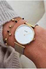Cluse Cluse Uhr Triomphe gold-weiß I Mesh zweifarbig Edelstahl