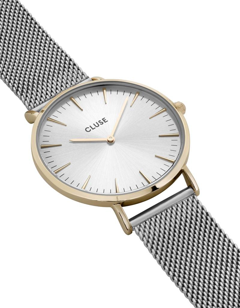 Cluse Cluse Uhr La Bohème silber-gold I Mesh silber
