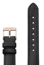 Cluse Cluse Uhrarmband schwarz-roségold I echtes Leder I 16 mm