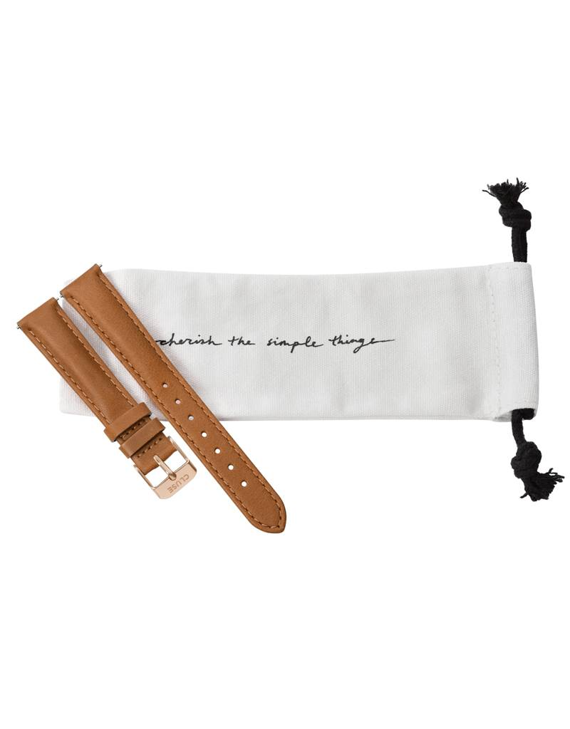 Cluse Cluse Uhrarmband caramel-roségold I echtes Leder I 16 mm