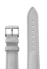 Cluse Cluse Uhrarmband grau-silber I echtes Leder I 18 mm
