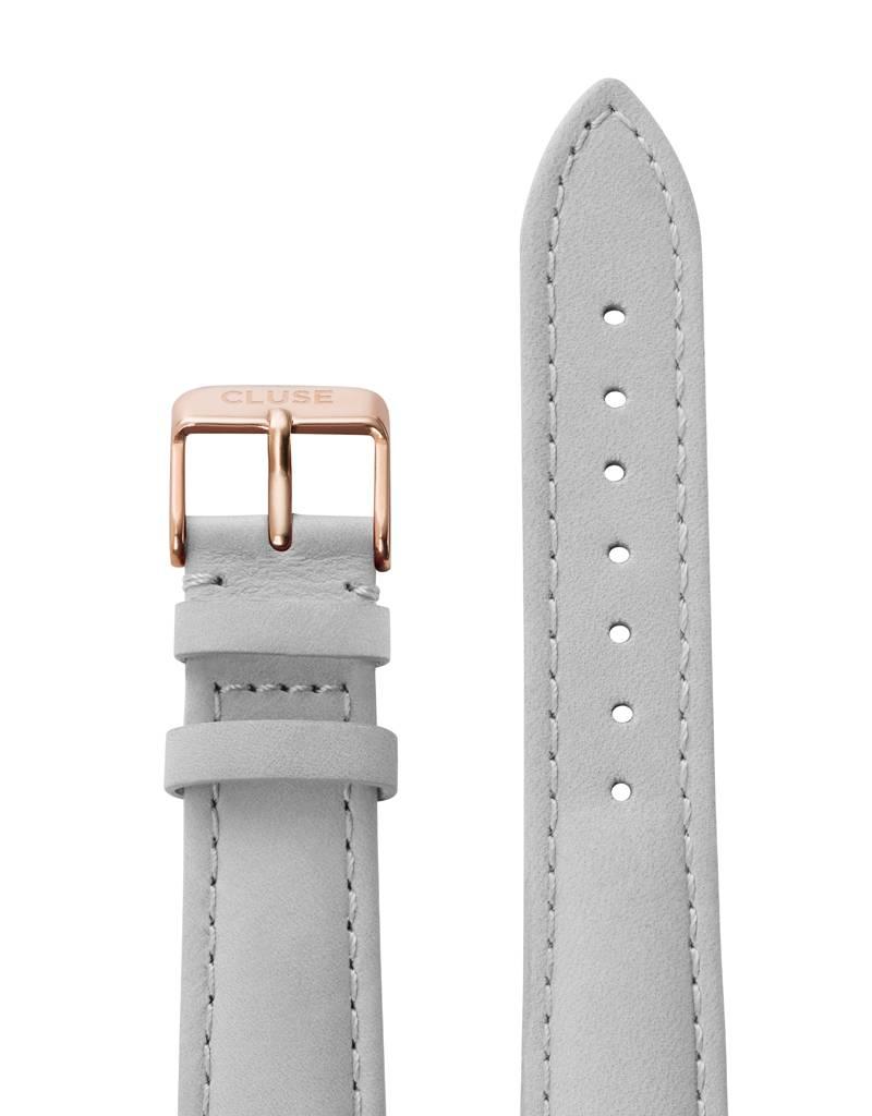 Cluse Cluse Uhrarmband grau-roségold I echtes Leder I 18 mm